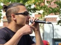 Straatmuzikanten (Evangelisatie) in Leeuwarden