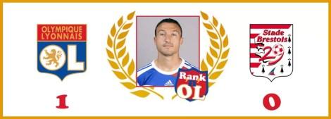 Malbranque, n°1 du rank'n'OL vs Brest