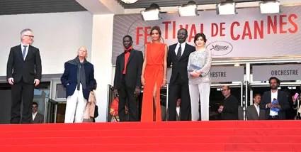 L'équipe de Grigris au 66ème Festival de Cannes