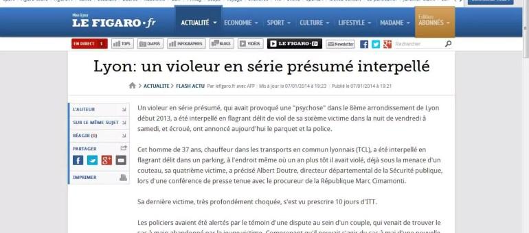 La police accuse les médias d'avoir retardé l'arrestation d'un violeur en série à Lyon