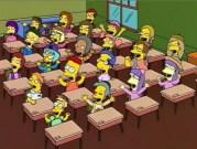 Bart Simpson à l'école. Capture