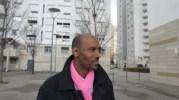 Lotfi Ben Khelifa (PS) devant une des tours du quartier des Minguettes à Venissieux en mars 2014 ©LB/Rue89Lyon