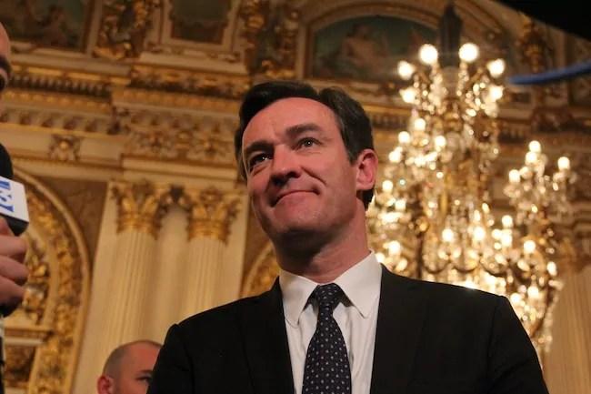 Michel Havard au soir du 1er tour des élections municipales à Lyon. Crédit : Pierre Maier/Rue89Lyon.