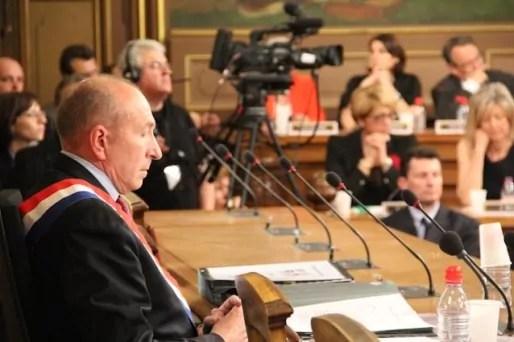 Gérard Collomb, maire PS de Lyon réélu en 2014 pour un troisième mandat. ©Pierre Maier/Rue89Lyon.