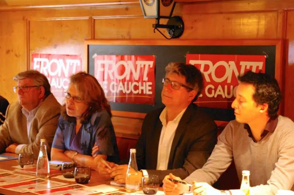 Candidats du Front de gauche aux élections européennes pour la région Sud-Est.