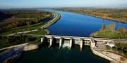 Barrage hydraulique de Pierre-Bénite, dans le Rhône. Crédit : CNR.
