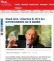 Grand Lyon : Gérard Collomb baissera les investissements de 40% sur la prochaine mandature