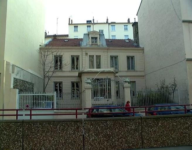Maison Valla avant la construction de l'immeuble © Ville de Lyon