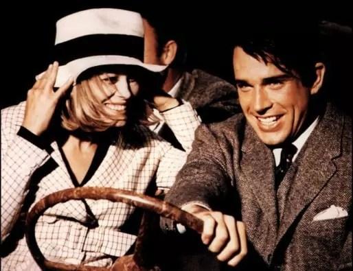 Image extraite du film Bonnie and Clyde d'Arthur Penn avec Faye Dunaway et Warren Beatty (1967).