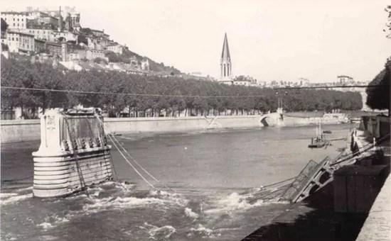 Pourquoi le pont d'Ainay n'a jamais été reconstruit après la Libération de Lyon en 1944