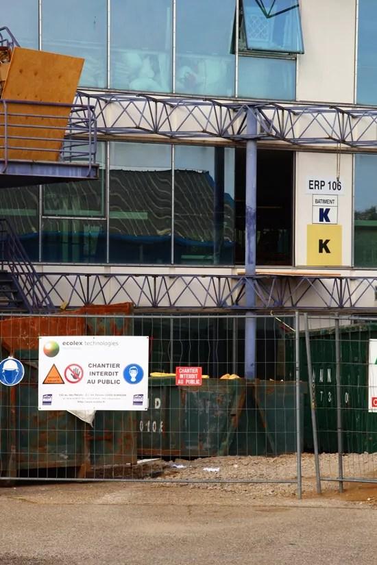 Le bâtiment K, campus Porte des Alpes de Lyon 2
