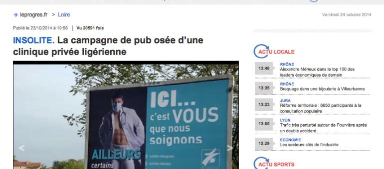 Infirmière et médecin sexy : la campagne décriée d'une clinique près de Saint-Etienne