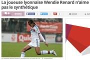 Wendie Renard, joueuse à l'OL. Vigie.