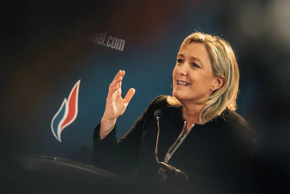 Marine Le Pen au 15ème Congrès du Front national à Lyon, en novembre 2014 ©FCaterini-Inediz/Rue89Lyon.