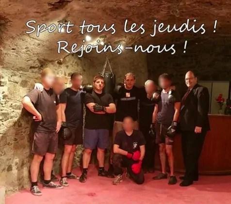 Photo de l'intérieur du local des nationalistes dans le Vieux Lyon. Capture d'écran Facebook.