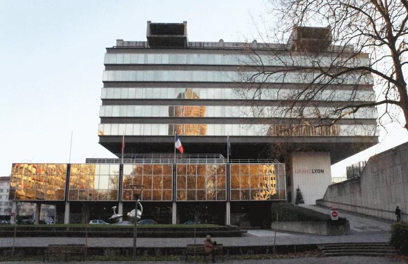 siège de la Métropole de Lyon, rue du Lac (Lyon 3ème). © Guillaume Bernard/Rue89Lyon