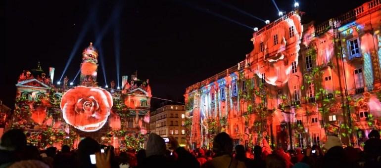 Fête des Lumières 2016, circonscrite dans une portion centre de Lyon