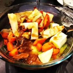 Parmentier de Veau aux légumes de saison. La régalade.