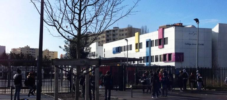 Un nouveau collège en grève à Vaulx-en-Velin