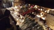 Jeudi 8 janvier, le soir, place des Terreaux à Lyon.