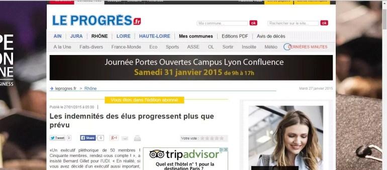 Métropole de Lyon : les élus votent l'augmentation de leurs indemnités