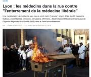 Les médecins ont manifesté à Lyon ce lundi 5 janvier.