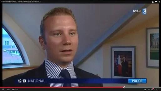 Capture d'écran, reportage de France 3 à la mairie de Rillieux-la-Pape.