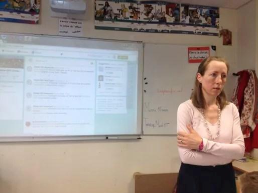 Carole Tellier, institutrice en CM1 à l'école Immaculée Conception