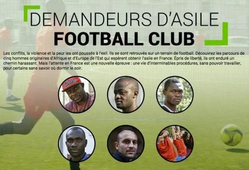 """Capture d'écran du webdocumentaire """"Demandeurs d'Asile Football Club"""""""