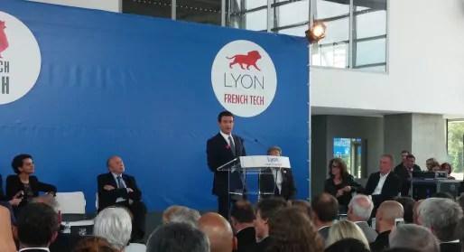 Manuel Valls lors de son discours au musée des Confluences / BE Rue89lyon