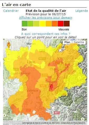 Capture d'écran carte air-Rhône-Alpes du 6 juillet 2015