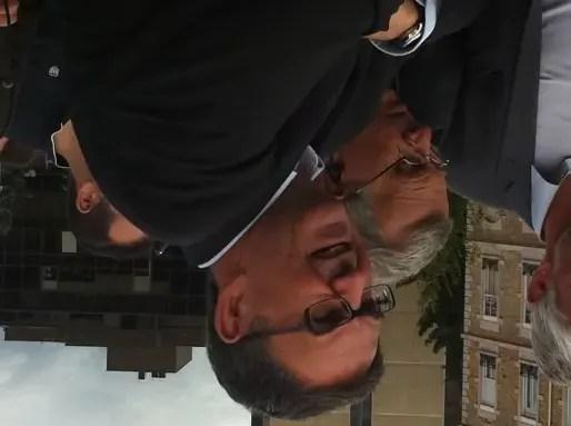 David Kimelfeld, lors de la traditionnelle visite de chantiers de Gérard Collomb (septembre 2015).