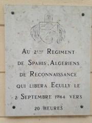 Plaque commémorative d'Écully ©DR