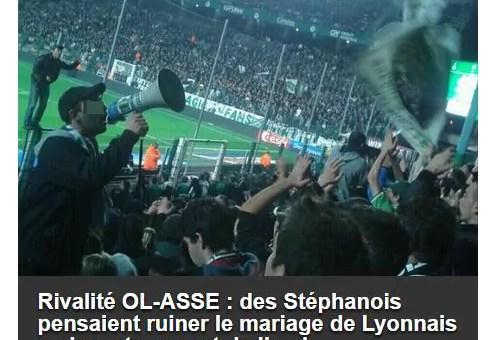 Des supporters stéphanois veulent gâcher le mariage d'un fan de l'OL mais se trompent de château