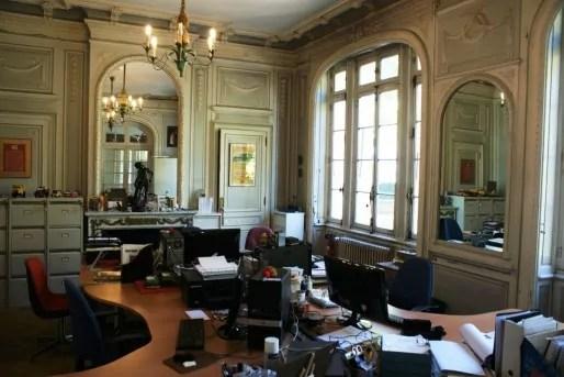 Les locaux des documentalistes de la fondation, dans l'ancienne salle à manger de la villa. ©MP/Rue89Lyon