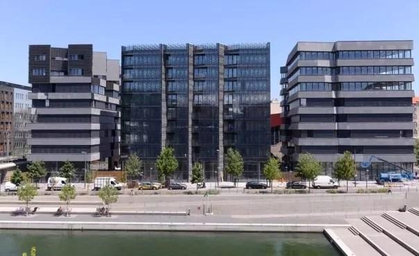 Les bâtiments de l'îlot Hikari à Confluence. Capture d'écran Le Moniteur