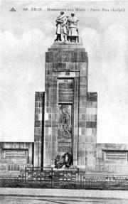 Carte postale du Monument aux morts d'Oran