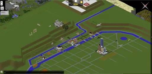 La ville de Lyon recréée progressivement sur Minecraft. Capture d'écran