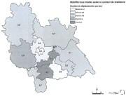 Chaque personne réalise en moyenne 3,55 déplacements par jour sur l'aire métropolitaine de Lyon.
