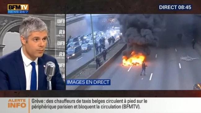 Le 26 janvier, Laurent Wauquiez une nouvelle fois au micro de Jean-Jacques Bourdin, sur BFMTV/RMC. Capture d'écran