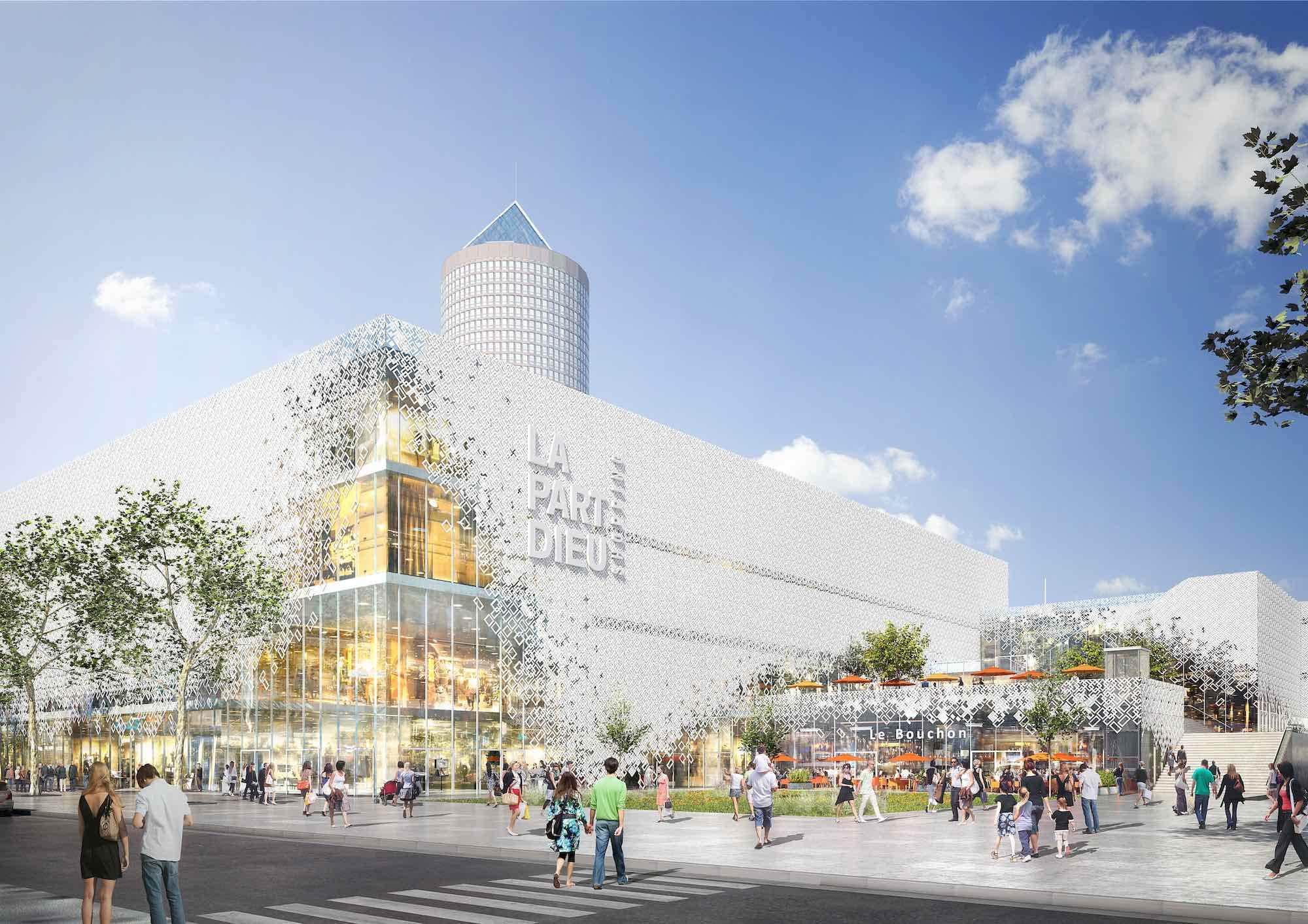 Vue de la future entrée du centre commercial de la Part-Dieu côté rue Bouchut. © Photo DR