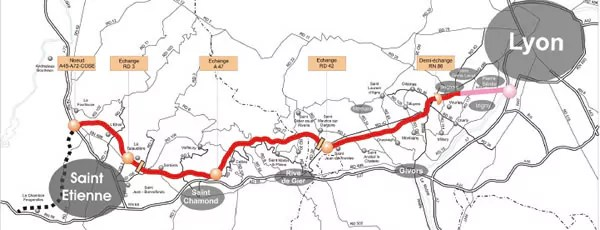 On s'achemine vers l'abandon de l'A45 entre Lyon et Saint-Etienne