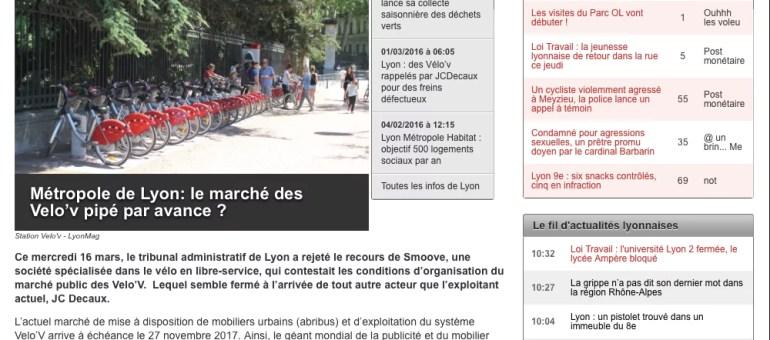 Marché public des Velo'v : la Métropole de Lyon favorise-t-elle JC Decaux ?
