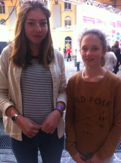 Brune et Eva, collégiennes à la journée Super Demain. Crédit : AC/Rue89Lyon.