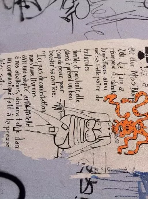 Miss Blurp, graffiti dans les rues de Lyon © DD/ Rue89Lyon