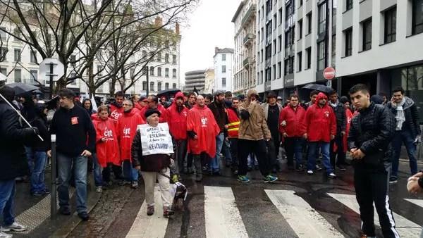 A Lyon, une 5ème manif contre la loi travail : tension et petite mobilisation