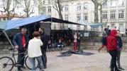 Place Guichard vendredi 15 avril vers 18h. ©LB/Rue89Lyon