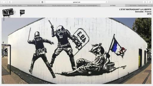 Capture d'écran du site de l'artiste Goin.
