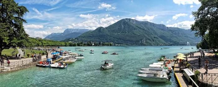 Le lac d'Annecy. CC