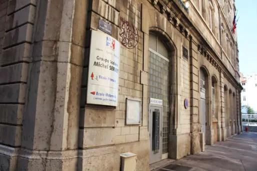 L'école Michel Servet est située dans le 1er arrondissement à Lyon. © Amélie James